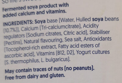 Plain Yogurt - Ingredients - en