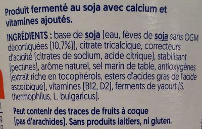 Nature sans sucres - Ingrédients - fr