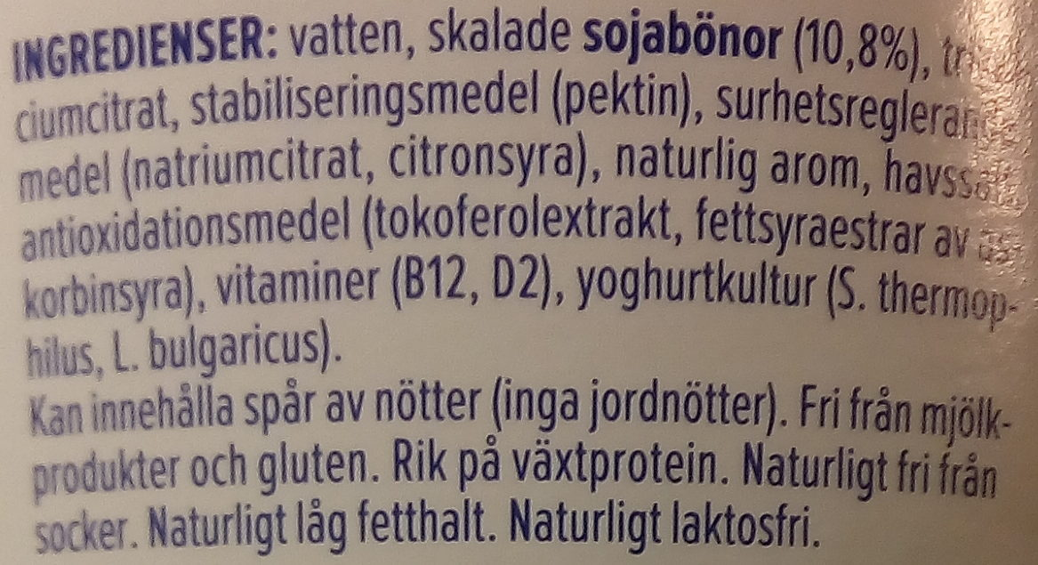 Nature Non Sucré - Ingrediënten