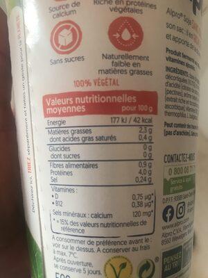 Alpro - Voedingswaarden - fr