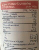 Plain Yogurt - Informations nutritionnelles - fr
