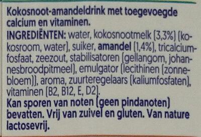Coconut & almond - Ingrediënten - nl