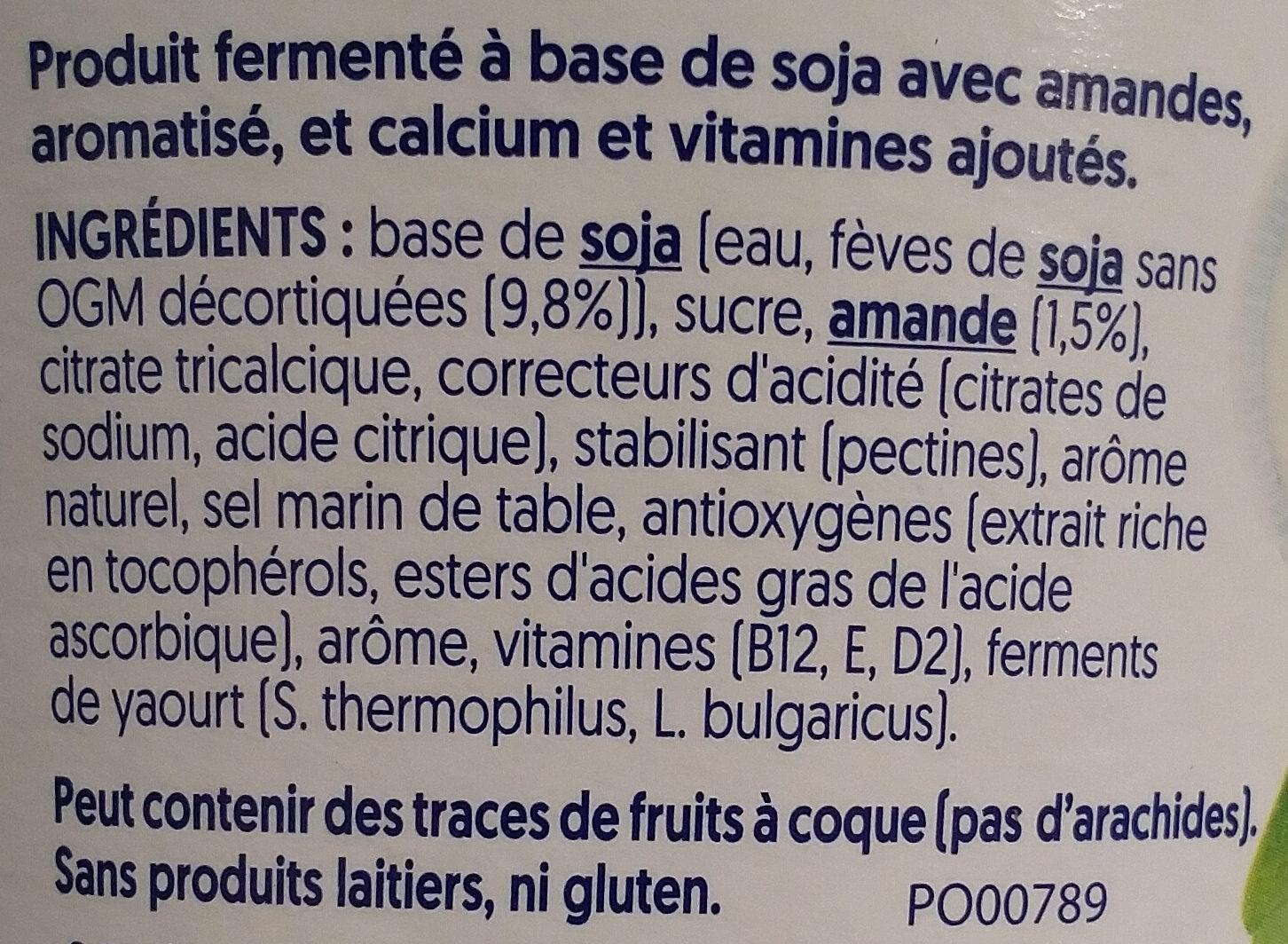 Nature aux Amandes - Ingrédients - fr