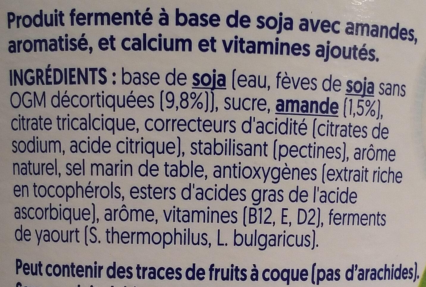 Nature aux Amandes - Ingredients - fr