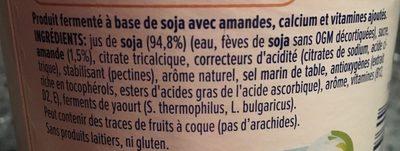 Nature aux Amandes - Ingredients