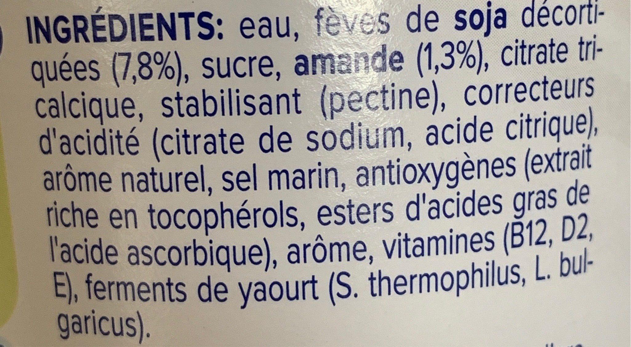 Nature aux Amandes - Ingrediënten - fr