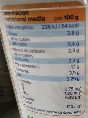 Nature aux Amandes - Información nutricional - es
