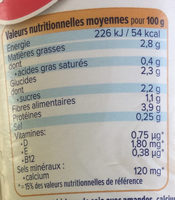 Nature aux Amandes - Nutrition facts - fr
