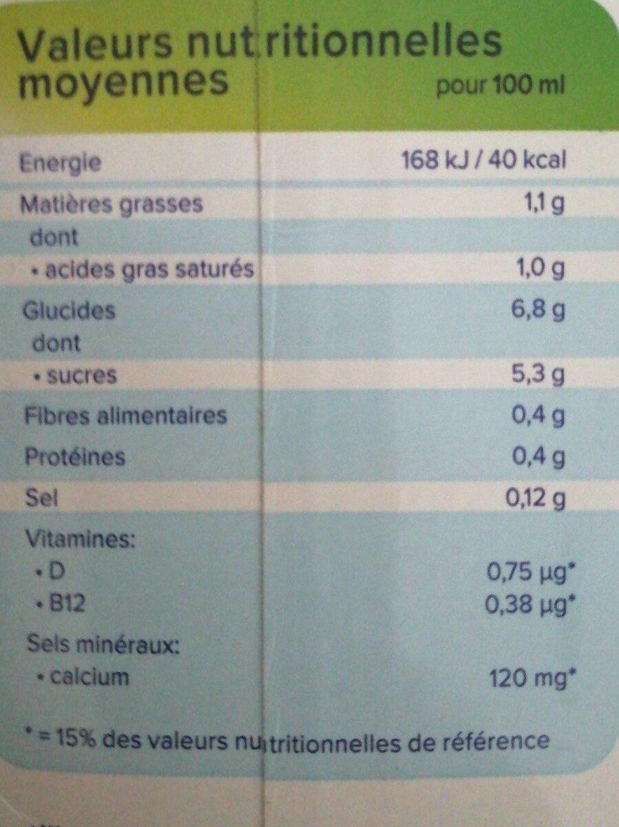 Boisson Coco saveur Chocolat - Informations nutritionnelles - fr