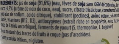 Nature à la noix de coco - Ingredients