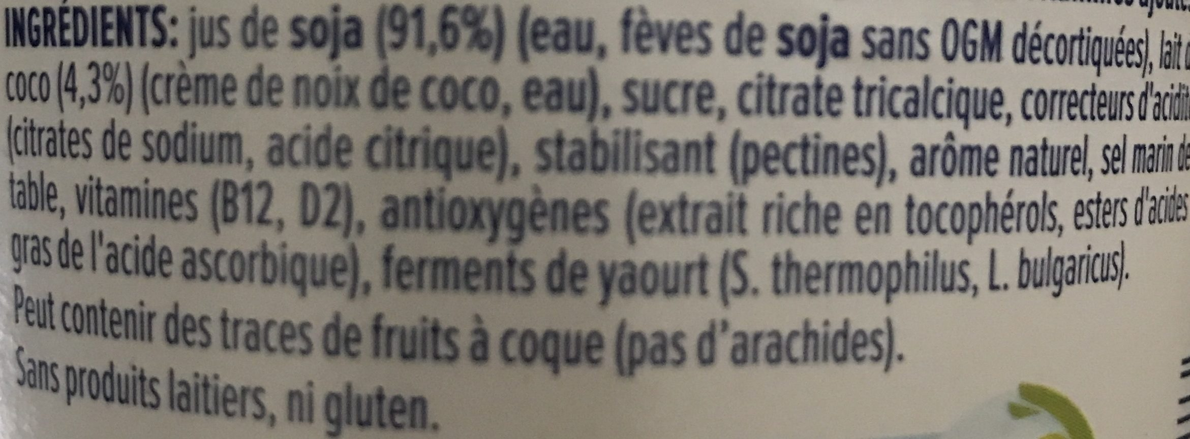 Alpro coco - Ingredients