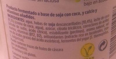 Nature à la noix de coco - Ingredientes