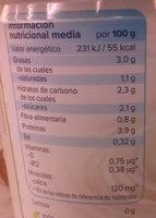 Alpro coco - Información nutricional - es