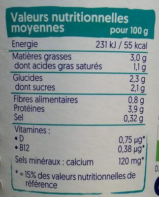 Alpro coco - Informació nutricional - fr