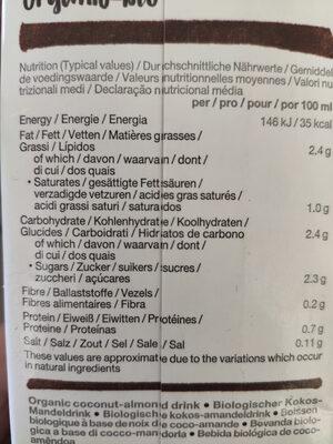 Noix de coco-amande - Voedingswaarden - fr
