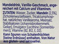 Vanille Mandel - Zutaten - de