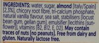 Amande Goût vanille - Ingredients - en