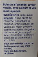 Goût vanille amande - Ingredienti - fr
