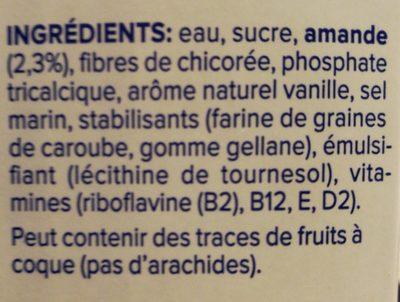Almond Touch of Vanilla - Ingrédients