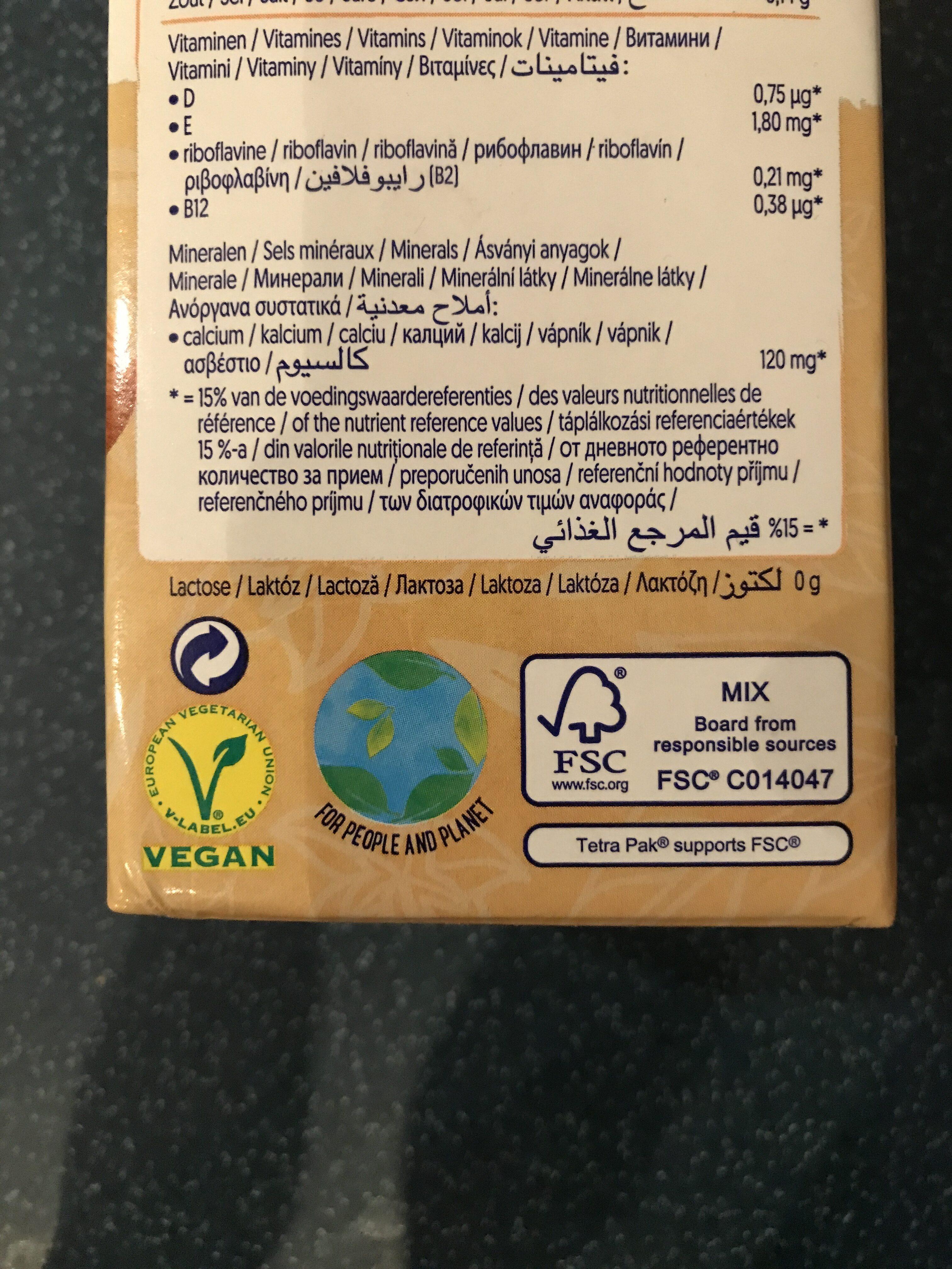 Amande Goût vanille - Instruction de recyclage et/ou informations d'emballage - de
