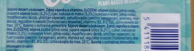 Alpro coconut desert - Ingrédients - cs