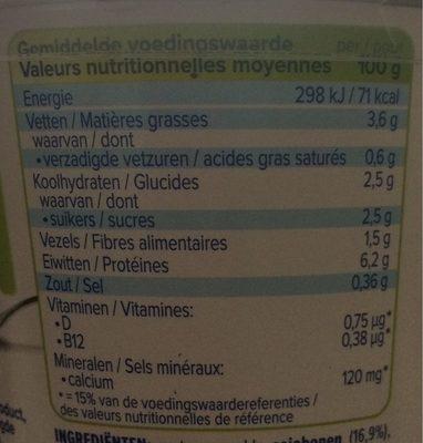 Alpro greek style - Información nutricional