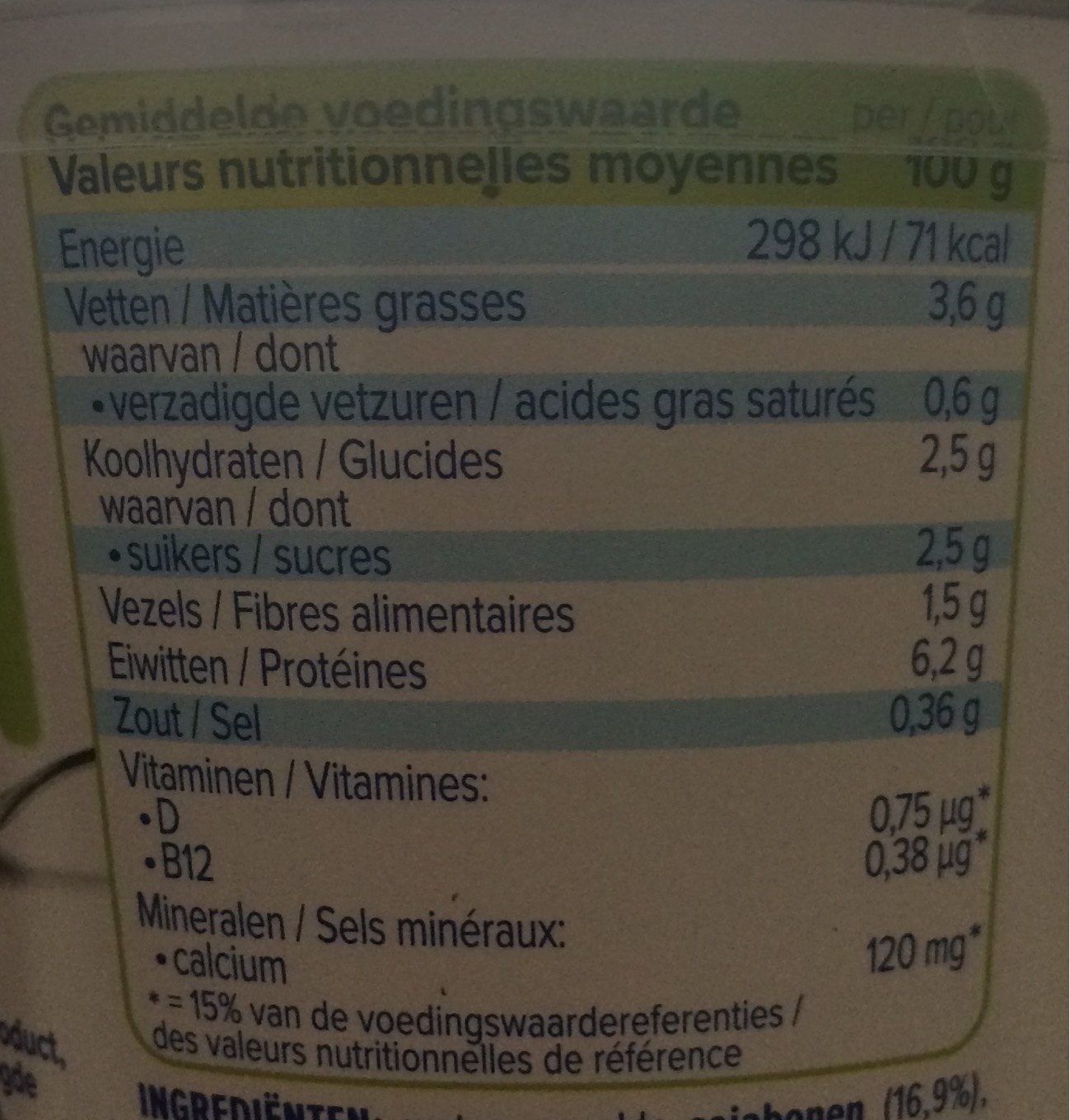 Alpro Greek style - Nutrition facts