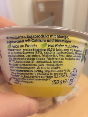 Alpro Go On Mango - Ingrédients