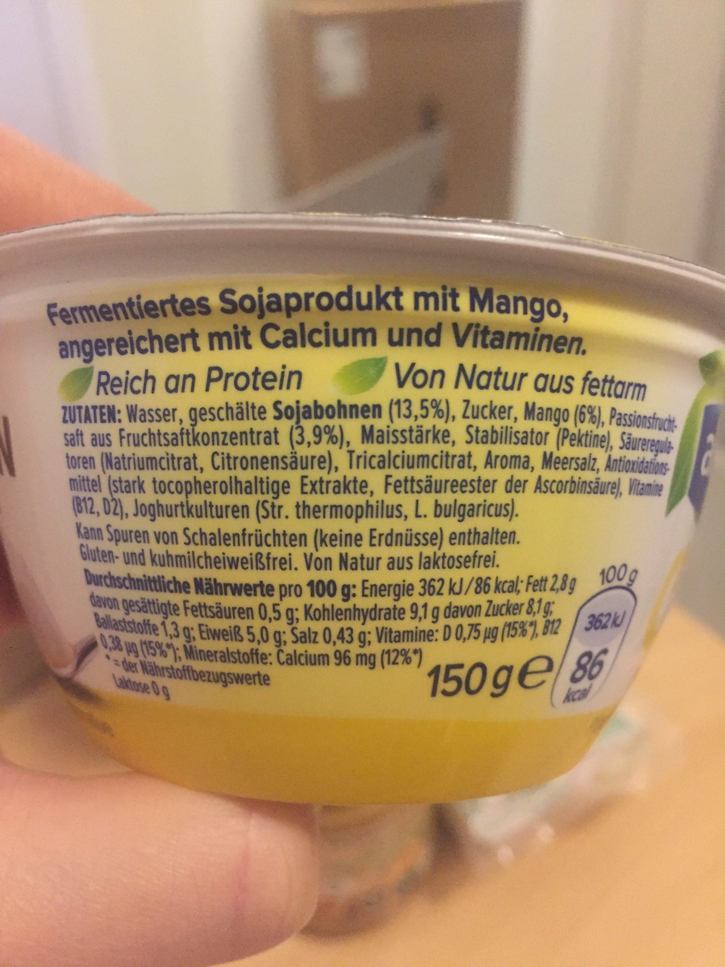 Alpro Go On Mango - Ingrédients - fr