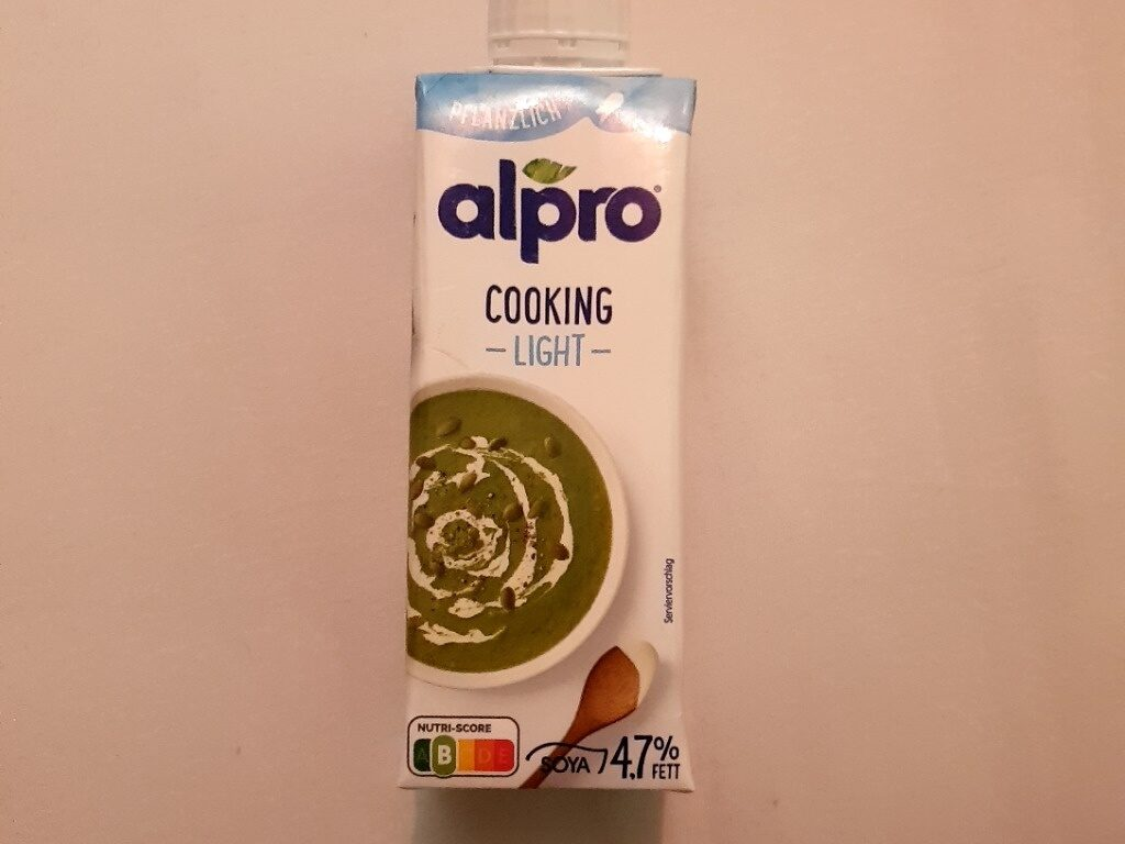 Alpro Cuisine Soya light - Produit - fr