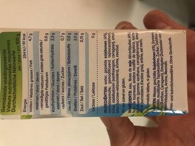 Alpro 250ML Kevyt 5% Ruoka Soijavalmiste - Inhaltsstoffe