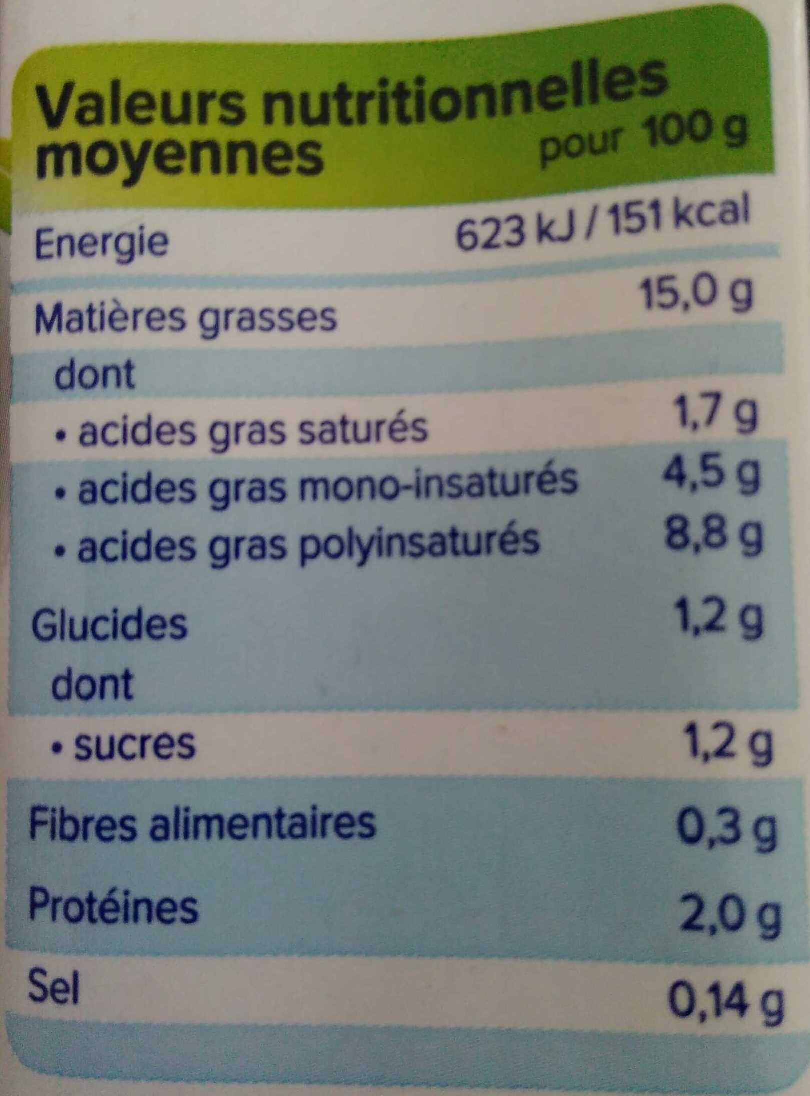 Alpro Cuisine Soya - Informations nutritionnelles - fr