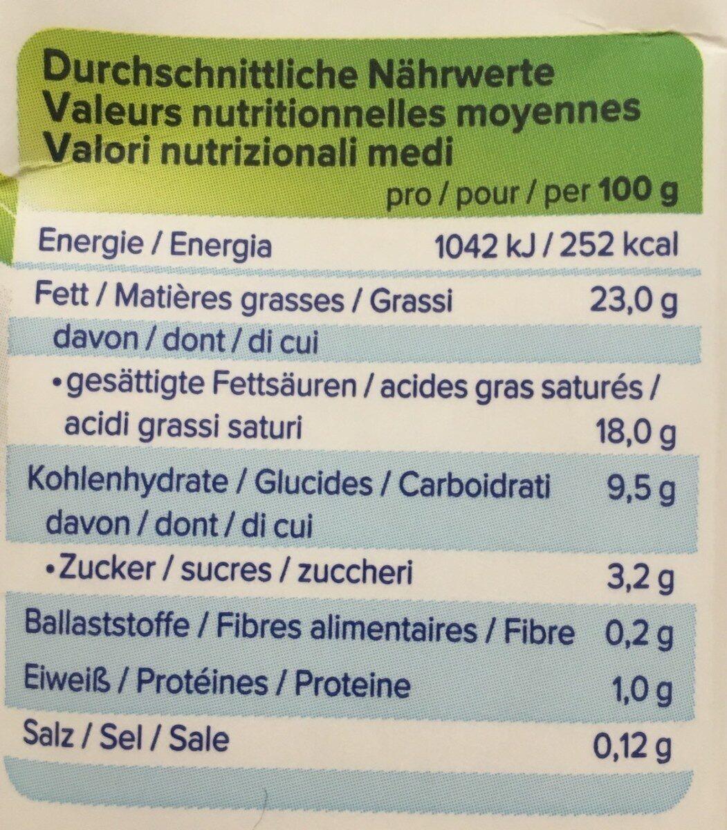 Alpro cuisine soja - Voedingswaarden - fr