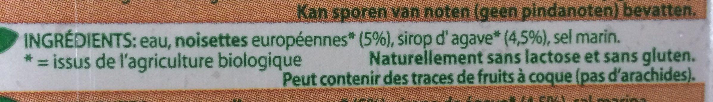 Boisson Aux Noisettes Bio - Ingredients