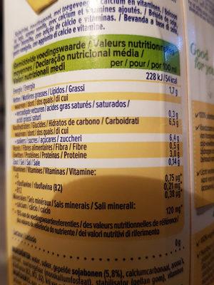 Soya vanille - Voedingswaarden