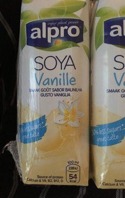 Vanilla Flavour Soya U.H.T. ml - Voedingswaarden - fr