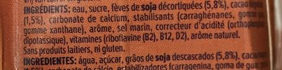 Soja saveur chocolat - Ingrediënten