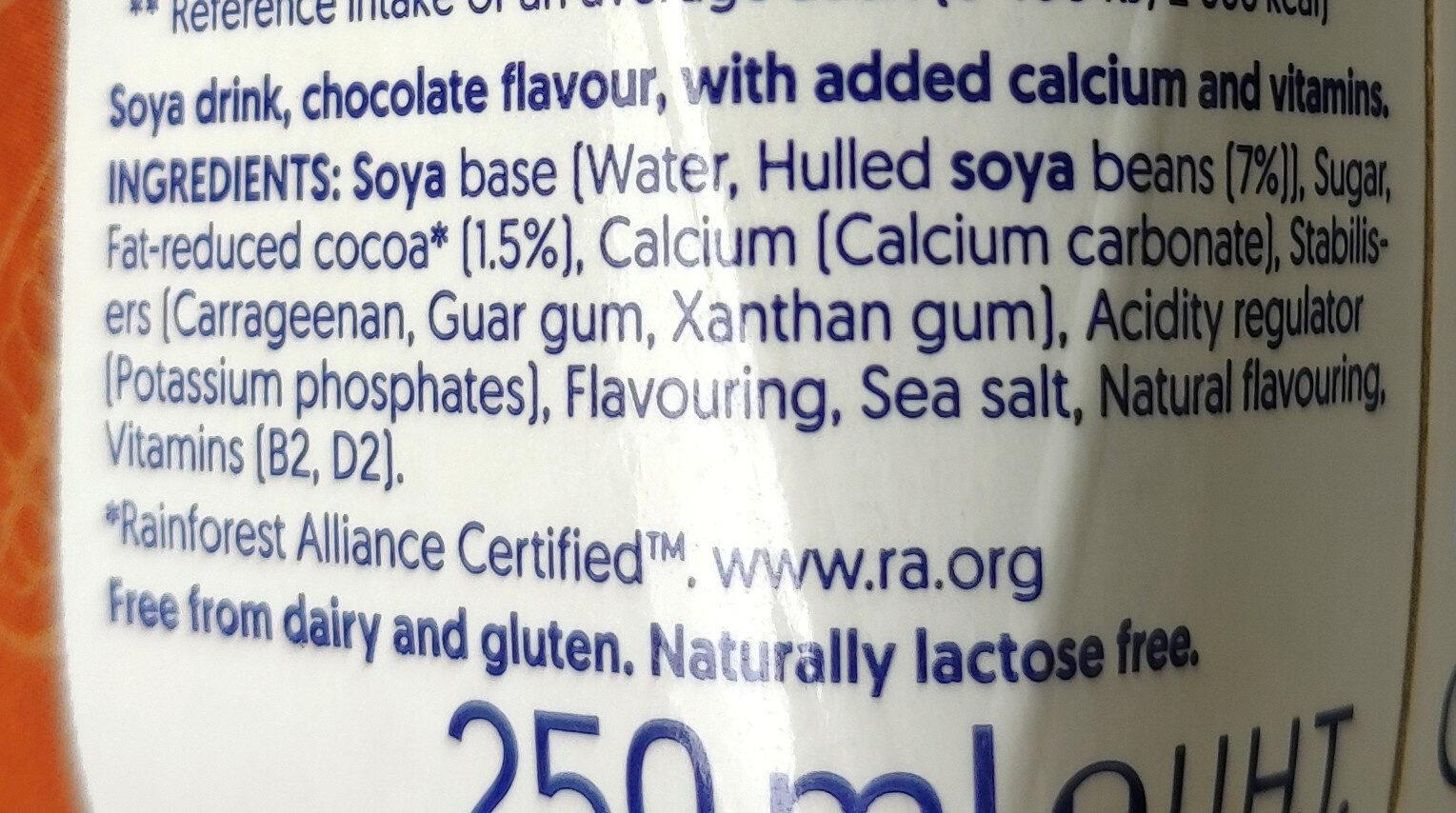 Soya drink chocolate flavour - Ingrediënten - en