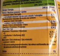 Soya Banane - Voedingswaarden - fr