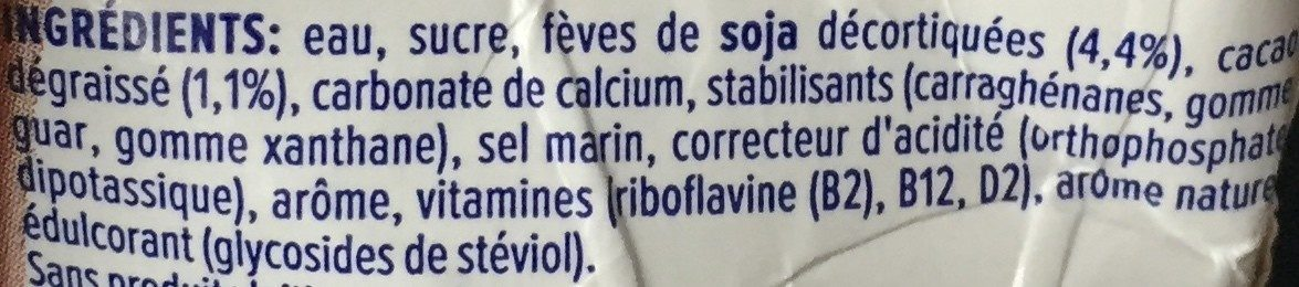 Alpro chocolate Flavout - Ingredients - fr