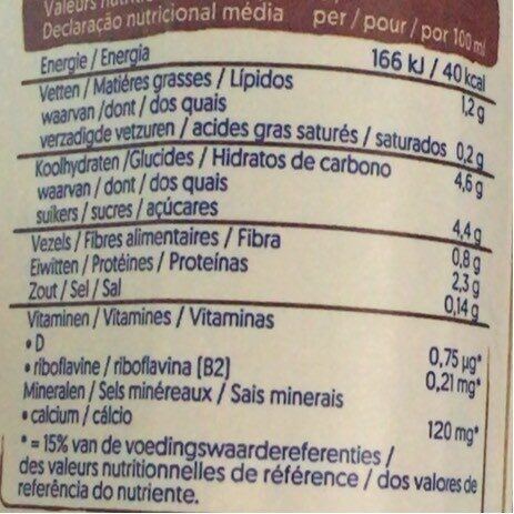 Alpro chocolate Flavout - Nutrition facts - fr