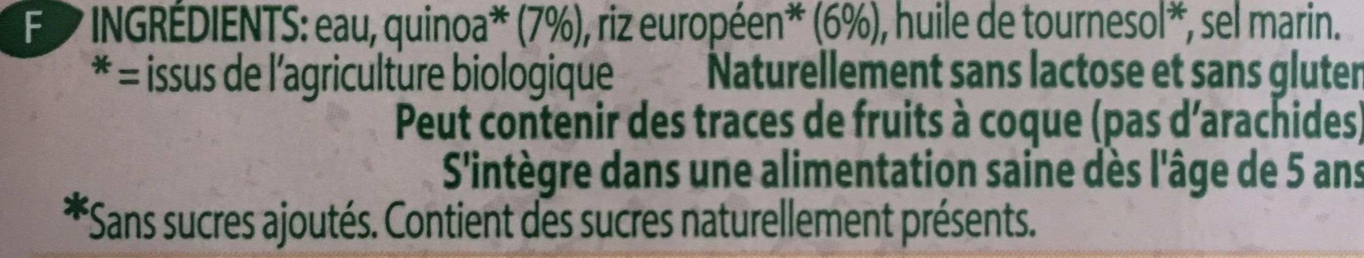 Quinoa-Riz - Ingredients