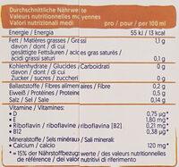 Lait d'amande Sans sucres - Nährwertangaben - de