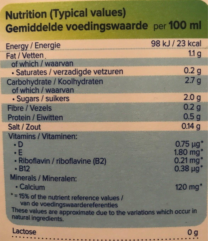 Alpro Fresh Cashew Drink - Informations nutritionnelles - en