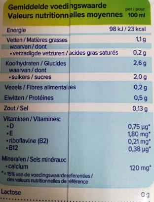 Cashew rein Pflanzlich - Informations nutritionnelles - fr