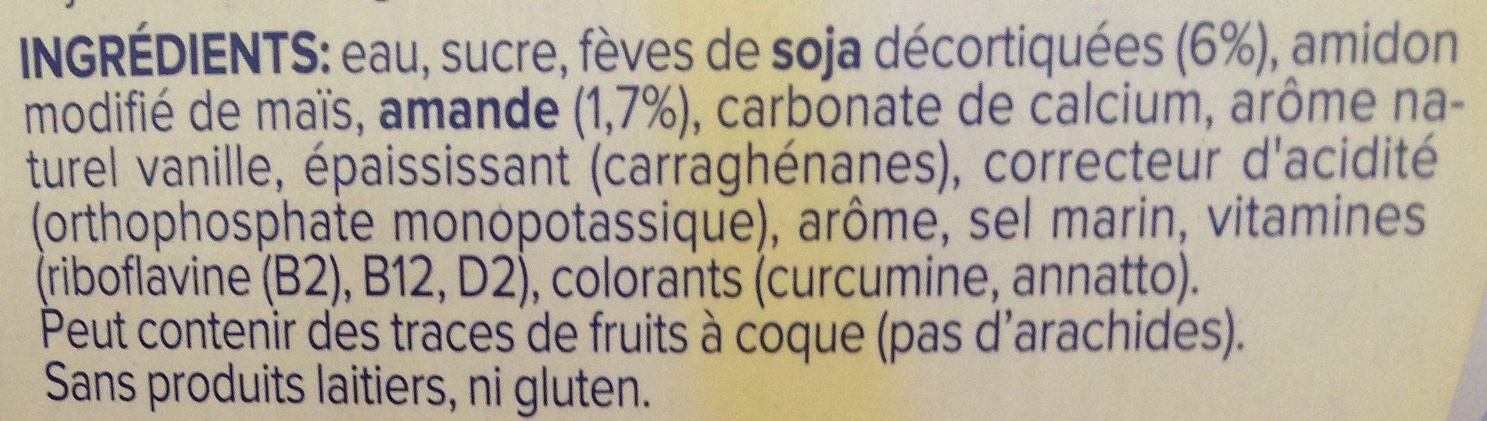 Alpro Dessert Moments Almond Vanilla - Ingrediënten - fr