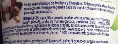 Alpro Hazelnut Chocolate Ice Cream 500ML - Ingredientes