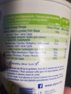 Hazelnut chocolate - Voedingswaarden - en