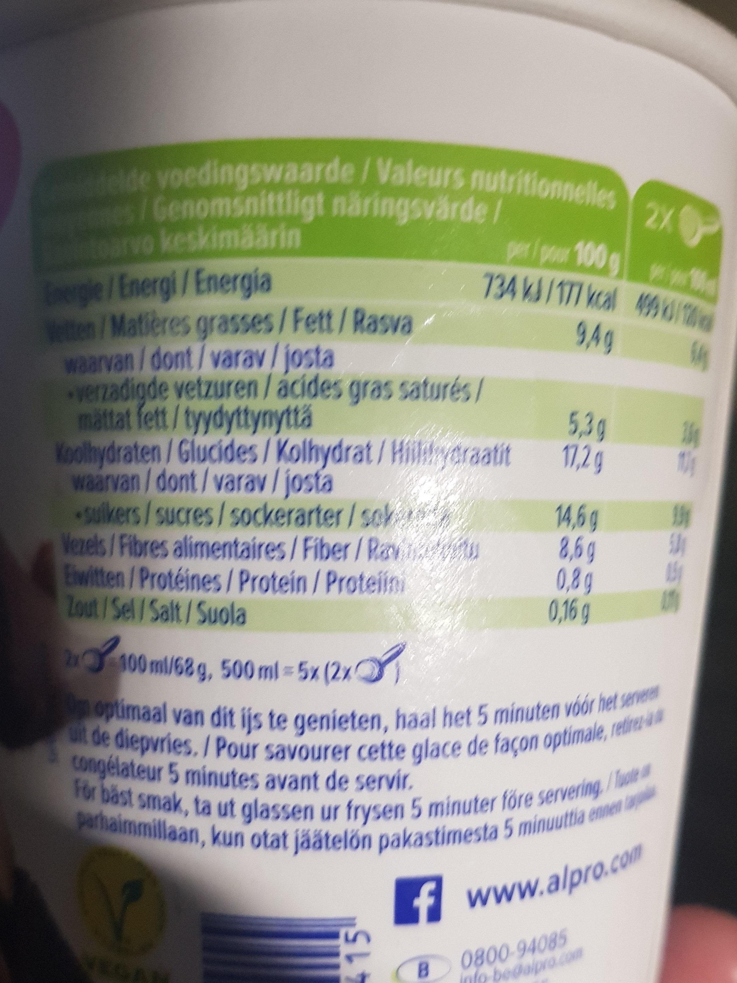 Hazelnut chocolate - Nutrition facts - en