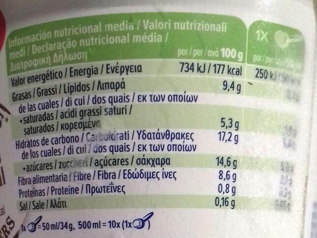 Alpro Hazelnut Chocolate Ice Cream 500ML - Información nutricional - es
